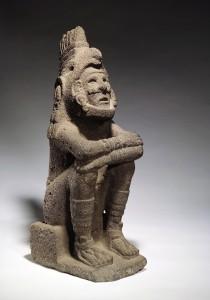 Aztecas, la cual permanecerá en el Museo Linden hasta el 3 de mayo de 2020. Figura del Dios Xochipilli-Macuilxochitl Foto Jean Christen