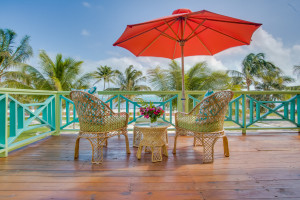 Every suite at Costa Blu Beach Resort, a Trademark Collection by Wyndham hotel, features a large private balcony overlooking the Caribbean Sea.