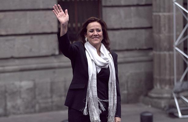 Foto: Margarita Zavala cuando llegó al primer debate