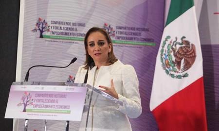 La Canciller Claudia Ruiz Massieu acompañó al Secretario de Gobernación Miguel Ángel Osorio Chong quien presidió el Seminario de los Centros de Justicia para las Mujeres
