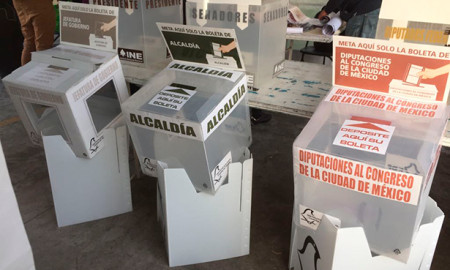 Urnas para voto CDMX